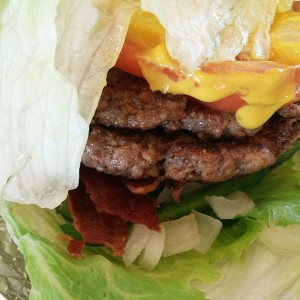Five Guys Bunless Bacon Burger